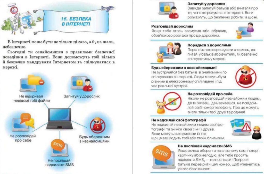 Правила інтернет безпеки. 3 клас Сходинки до інформатики Ломаківська та інші